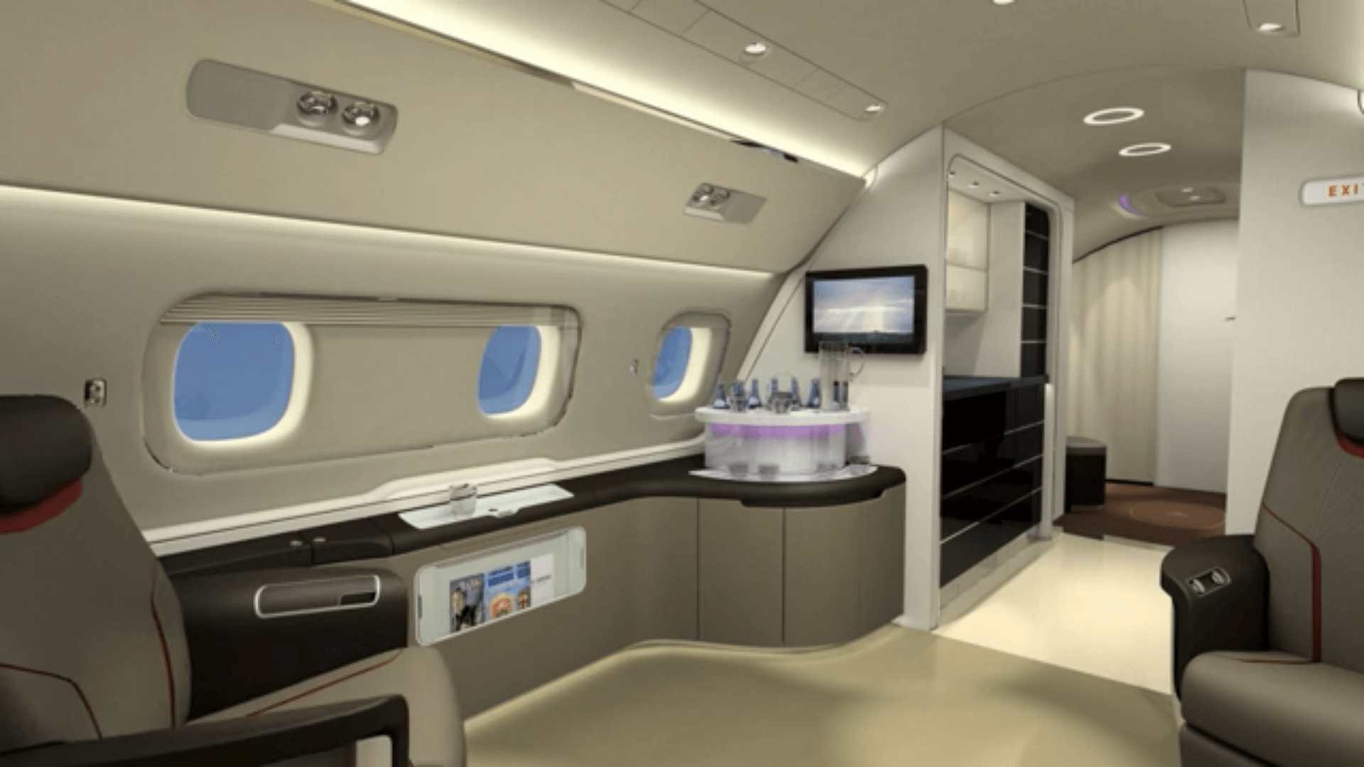 The Embraer Lineage 1000 Jet Interior Design By Priestmangoode