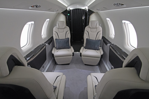 What is the volume of the Pilatus PC-24's cabin?