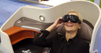 VR IFE and massage integrated in business seat to create immersive solution