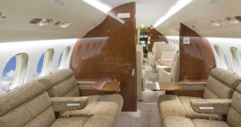 Planet Nine shows off luxurious Falcon 7X