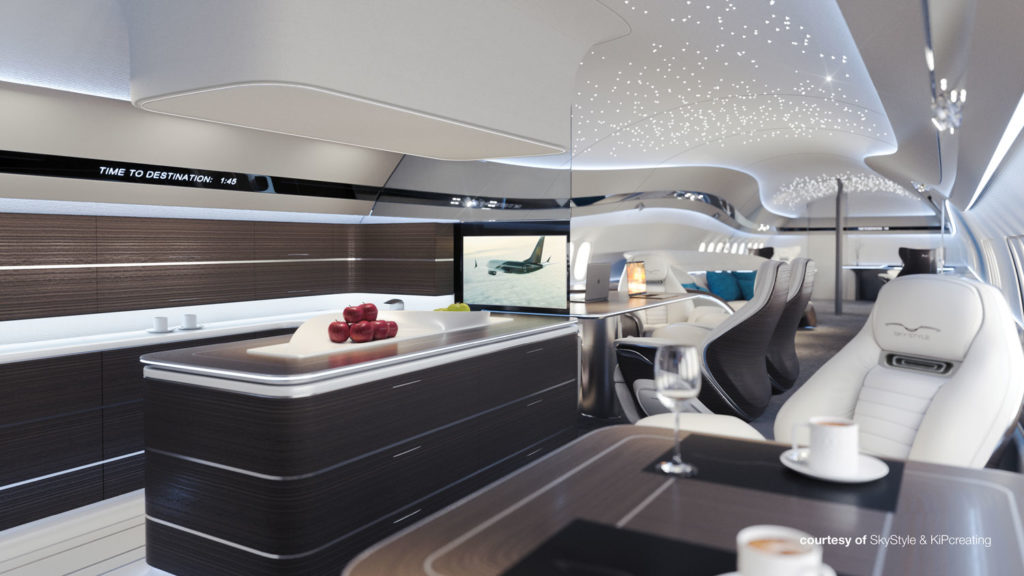 Interior concept revealed to celebrate first BBJ Max green delivery