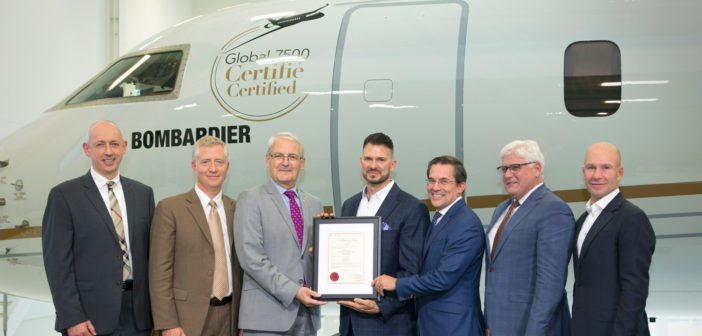Transport Canada certifies Global 7500