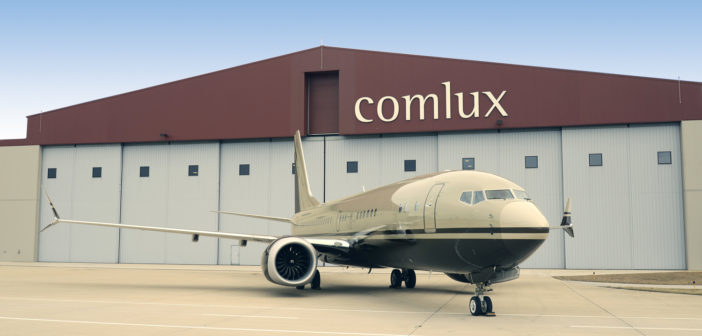 First BBJ Max 8 completion underway at Comlux