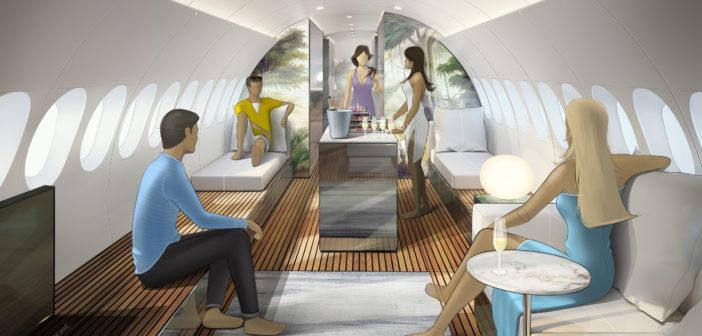 Lufthansa Technik SkyRetreat cabin concept. Image: Lufthansa Technik