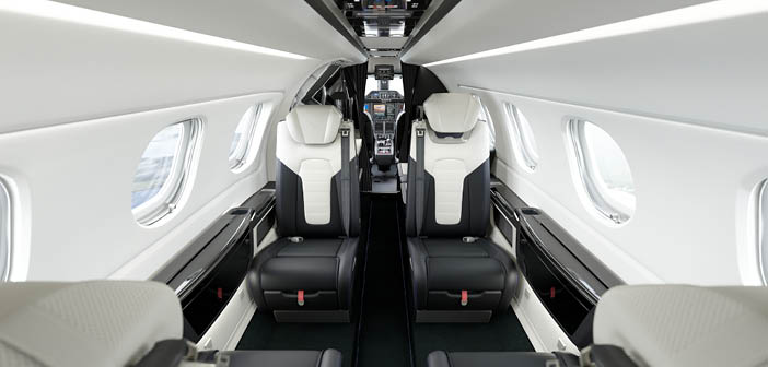 One of the unique elements of the Phenom 300E Duet interior is the special seat design