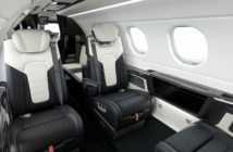 The Duet interior for the Phenom 300E light jet