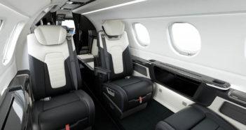 The Duet interior for the Phenom 300E light jet
