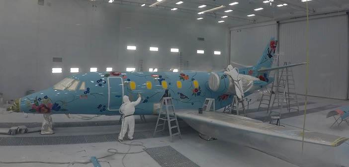 The Citation 560XLS's new livery features 23 aviation paint colours