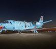This Citation 560XLS completed at Duncan Aviation features the art of Nancy Friedemann Sánchez