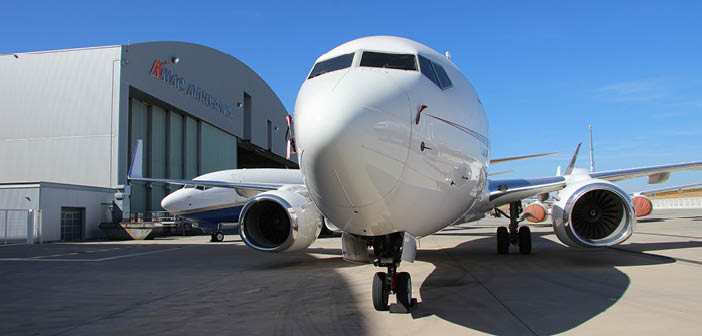 A BBJ737 will be equipped with an IFE system at AMAC Aerospace in Basel, Switzerland