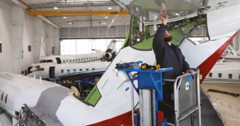 Duncan Aviation's facility in Lincoln, Nebraska, recently won two Bombardier ASF Excellence Awards
