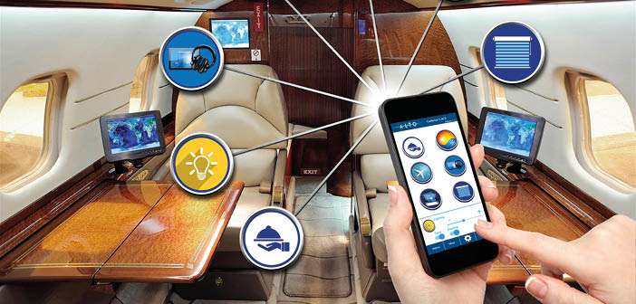 The Alto Cadence remote control app enables control over a wide range of cabin systems