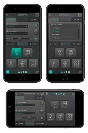 The app's controls can be customised on request