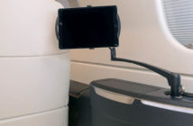 The Ingenio cabin tablet arm as deployed on an Embraer Praetor 500