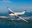The King Air 260 in flight
