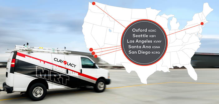 Clay Lacy offers maintenance services at five locations across the USA