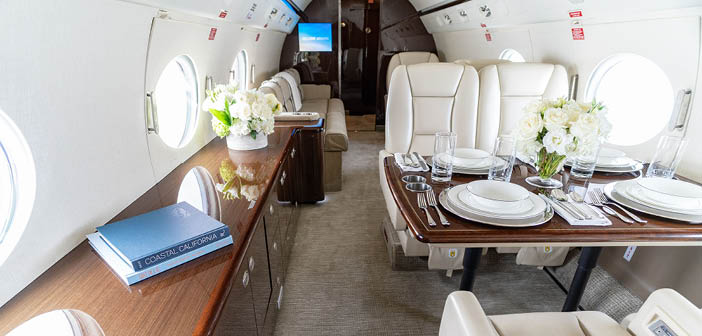 The Jet Edge large-cabin point-to-point fleet includes the Gulfstream G550