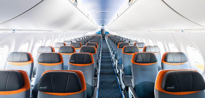 JetBlue's new A220 features Ultraleather Promessa AV
