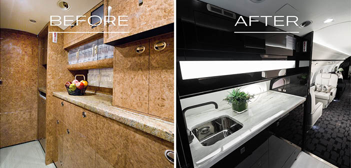 New veneers and countertops are available with the Premium and Custom redesign packages
