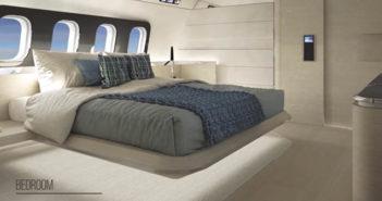 Massari Design's BBJ 737 concept includes an aft bedroom