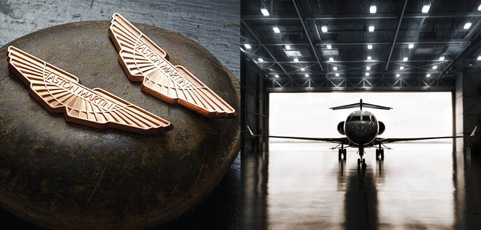 Bombardier and Aston Martin signed a letter of intent to offer custom design services for Challenger and Global business jets