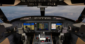 Collins Aerospace's Pro Line Fusion avionics are being installed on a Challenger 604 at Duncan Aviation's site in Battle Creek, Michigan