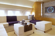 The flagship of Comlux's VIP charter fleet, a BBJ 767 named SkyLady