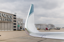 Duncan Aviation made the landmark winglet installation on a Falcon 900EX