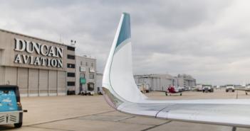VIDEO: 100th Falcon winglet installation at Duncan
