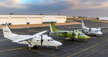There are three aircraft in the Cessna SkyCourier turboprop flight test fleet