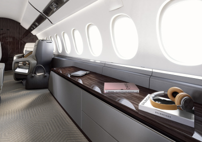 The Dassault Falcon 6X cabin was praised for its successful combination of form and function