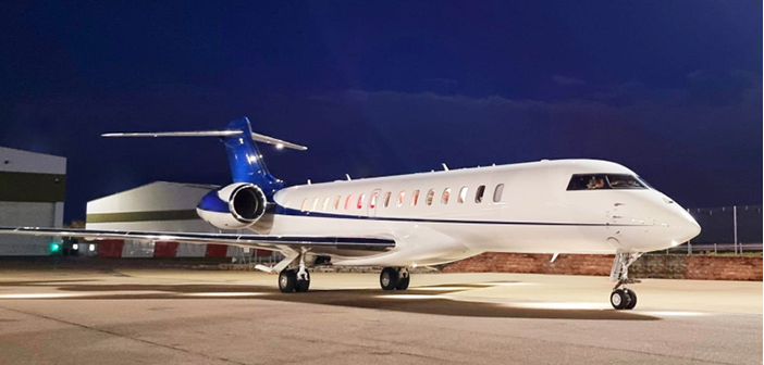 The Global 7500 will be based at London Luton Airport in the UK