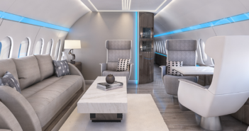 A BBJ Max interior concept by Greenpoint