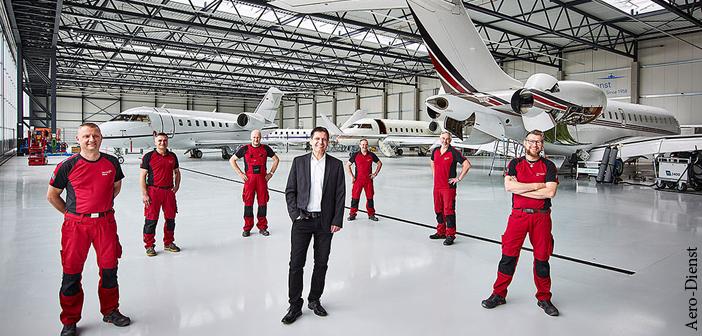 Aero-Dienst welcomes the new team in Oberpfaffenhofen, Germany
