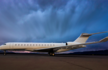 Duncan Aviation recently painted this Global 7500 for a repeat customer.