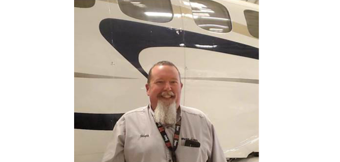 Scott Debrie, senior team lead for interiors for West Star Aviation's facility in Grand Junction, Colorado