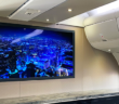 DPI's 65in SmartCanvas UHD 4K cabin display installed on a VVIP Boeing 767
