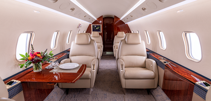 The Bombardier Challenger 300 interior