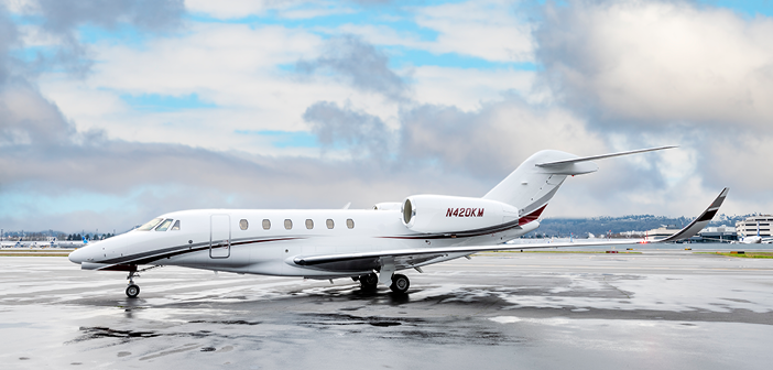 The Cessna Citation X, one of the two super-midsize jets Clay Lacy recently added to its Seattle charter fleet