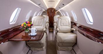The interior of the Cessna Citation X