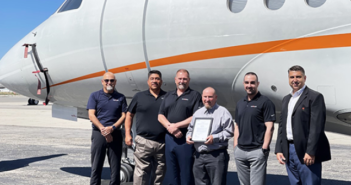 Clay Lacy's maintenance leadership team with the EASA certification