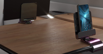 The Ingenio table tablet holder for the Embraer Phenom 300E