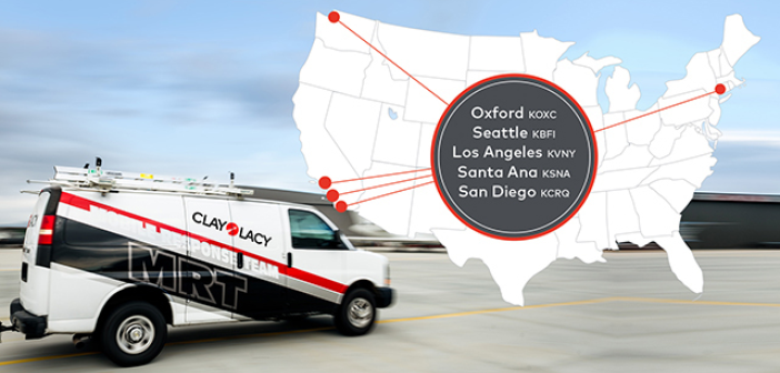 Clay Lacy maintenance and mobile response teams are positioned in five locations across the USA