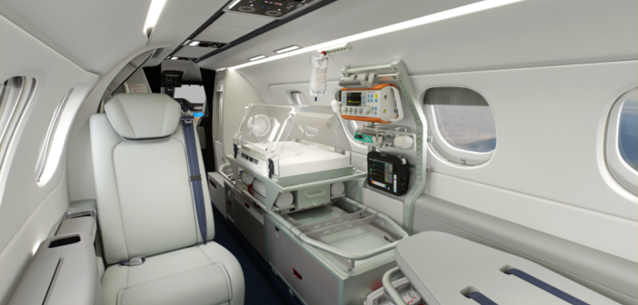 An incubator is available for the Embraer Phenom 300MED