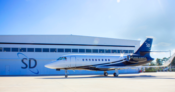 The SD Falcon 2000LX ready for the Plane Simple antenna installation