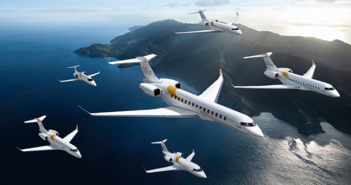 Bombardier's entire range. The mix of aircraft ordered was not disclosed