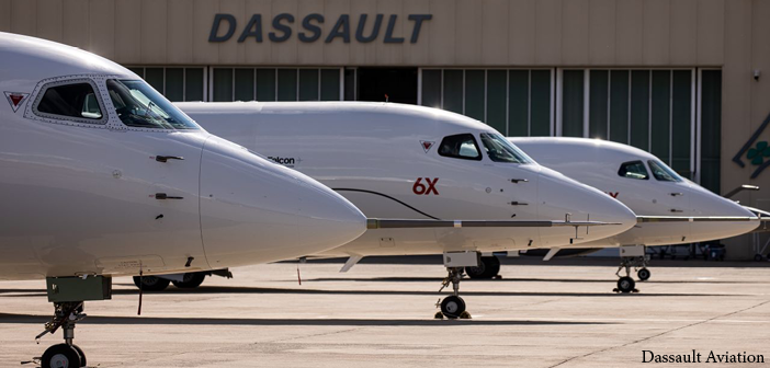 Dassault Aviation is targeting certification for the Falcon 6X in 2022