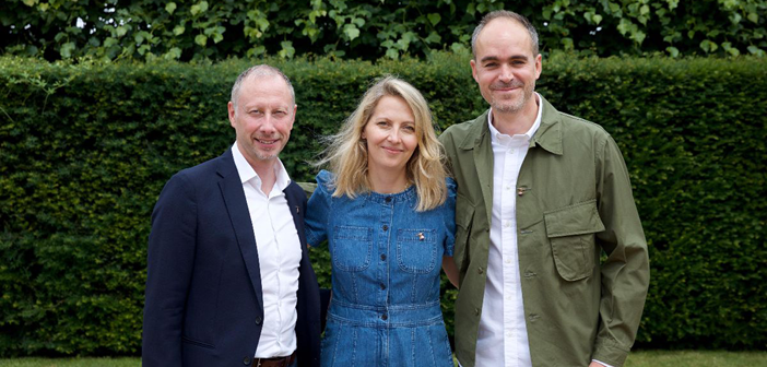 From left to right: Jim Dixon, director, yachts and aviation; Aino-Leena Grapin, CEO; and Simon Tomlinson, director, architecture