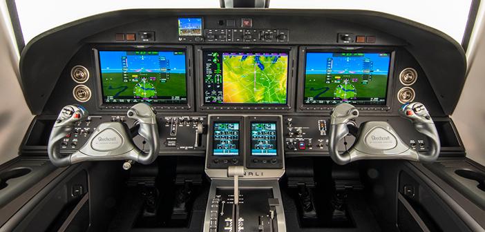 The Beechcraft Denali's cockpit