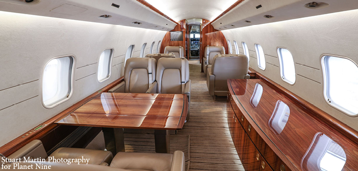 The Global Express features a galley, two bathrooms and Gogo wireless internet